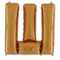 Фольгированная Буква Ш золото (102 см)